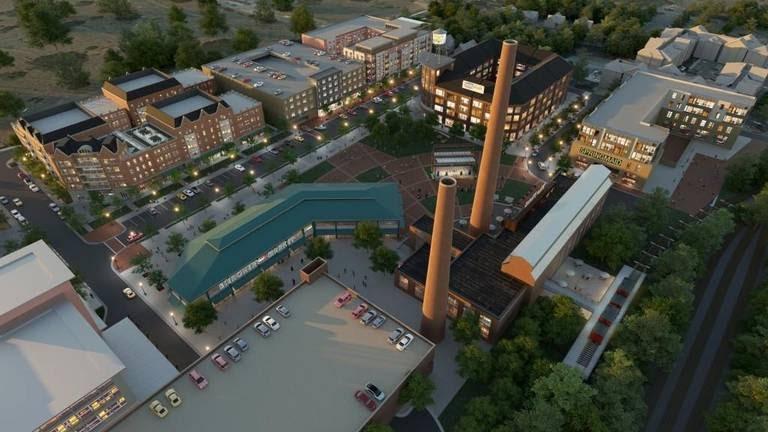 The old Bleachery revitalized as a university center in Rock Hill, SC